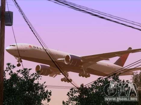Boeing 777-200ER Delta Air Lines para vista inferior GTA San Andreas