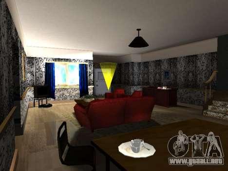 Nuevo edificio de 2 pisos interior CJ para GTA San Andreas sucesivamente de pantalla