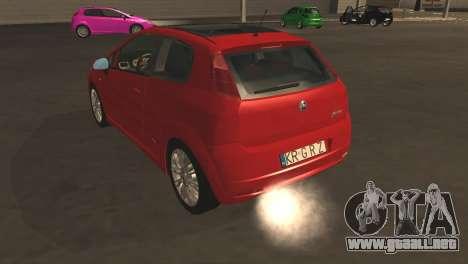 Fiat Grande Punto para la vista superior GTA San Andreas