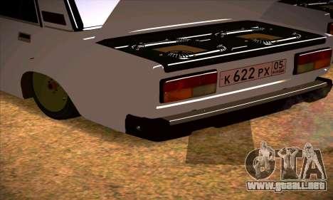 VAZ 2107 (05) para la visión correcta GTA San Andreas