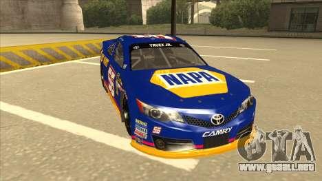 Toyota Camry NASCAR No. 56 NAPA para GTA San Andreas left