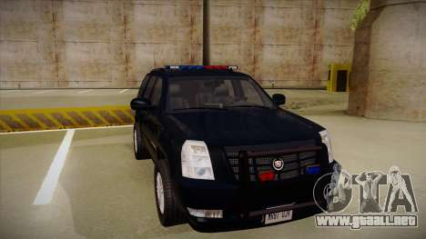 Cadillac Escalade 2011 FBI para GTA San Andreas left