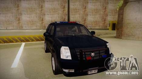Cadillac Escalade 2011 FBI para GTA San Andreas left