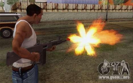 La escopeta AA-12 para GTA San Andreas tercera pantalla