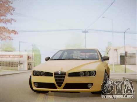 Alfa Romeo 159 Sedan para GTA San Andreas vista posterior izquierda