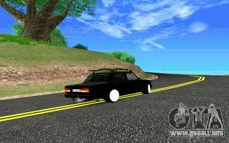 VAZ 2107 Riva para GTA San Andreas vista hacia atrás