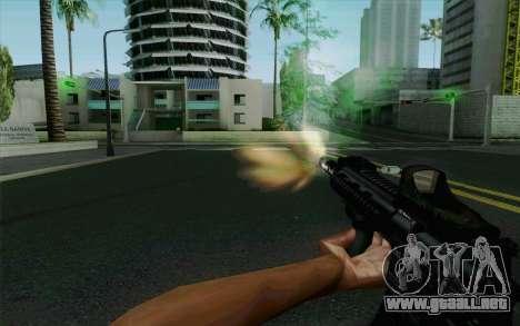 MK107 PDW para GTA San Andreas quinta pantalla