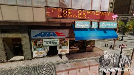 Tiendas reales para GTA 4 tercera pantalla