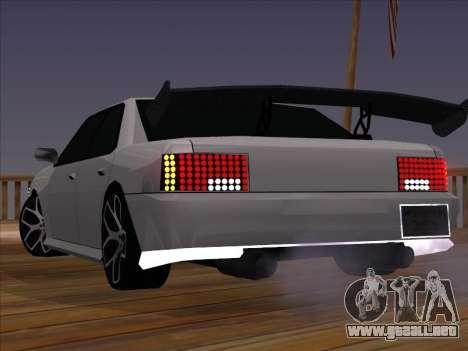 New Sultan para GTA San Andreas vista posterior izquierda