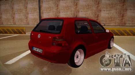 Volkswagen Golf Mk4 Euro para la visión correcta GTA San Andreas