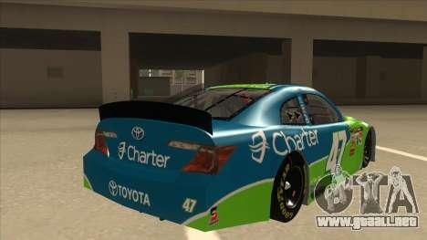 Toyota Camry NASCAR No. 47 Charter para la visión correcta GTA San Andreas