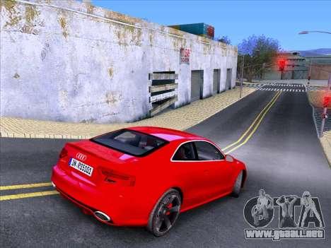 Audi RS5 2012 para GTA San Andreas vista hacia atrás
