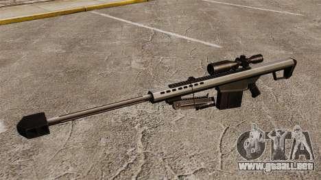 El francotirador Barrett M82 rifle v1 para GTA 4 tercera pantalla