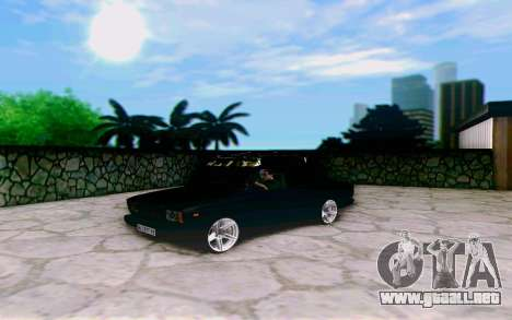 VAZ 2107 Riva para GTA San Andreas vista posterior izquierda