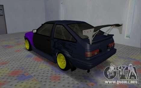 Toyota AE86 Street Drift para la visión correcta GTA San Andreas