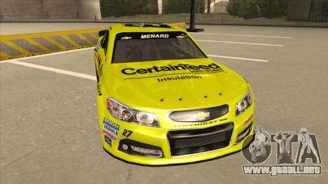 Chevrolet SS NASCAR No. 27 Menards para GTA San Andreas left