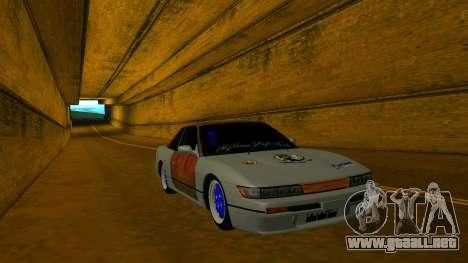 Nissan Silvia S13 MGDT para GTA San Andreas vista hacia atrás