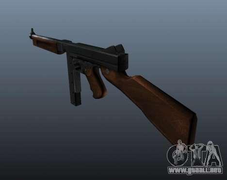 M1a1 Thompson subfusil ametrallador v2 para GTA 4 segundos de pantalla