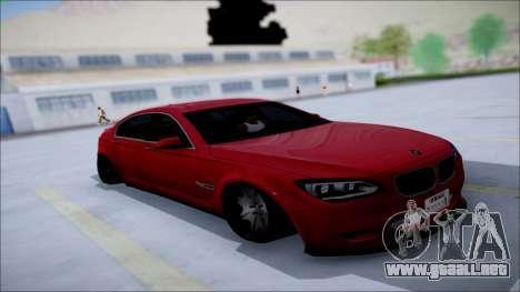 BMW 750 Li Vip Style para visión interna GTA San Andreas