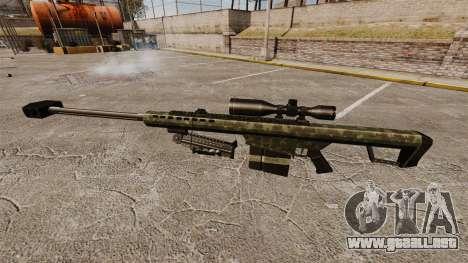 El v7 de rifle de francotirador Barrett M82 para GTA 4 tercera pantalla