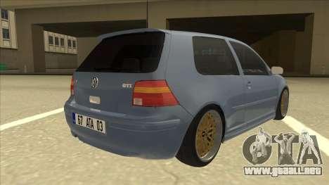Volkswagen Golf MK4 Gti Eurolook para la visión correcta GTA San Andreas