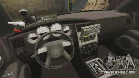 Dodge Charger 2008 LCPD Slicktop [ELS] para GTA 4 vista hacia atrás