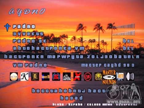 Nuevo menú para GTA San Andreas quinta pantalla
