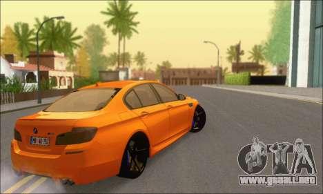 BMW M5 Vossen para GTA San Andreas vista hacia atrás