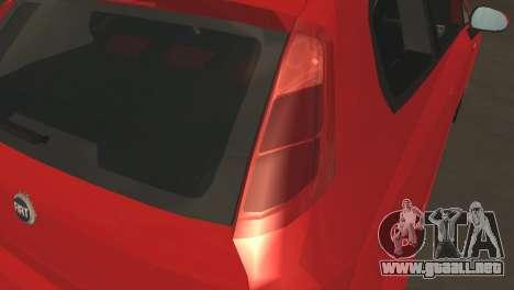 Fiat Grande Punto para visión interna GTA San Andreas