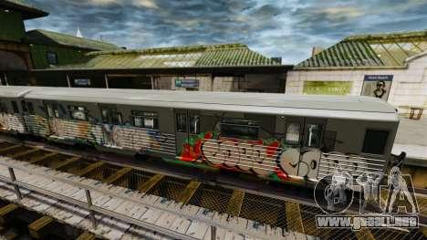 Nuevo graffiti en el metro v2 para GTA 4 segundos de pantalla