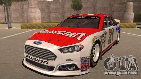 Ford Fusion NASCAR No. 21 Motorcraft Quick Lane para GTA San Andreas