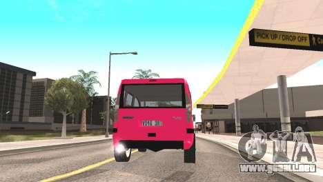 Fiat Doblo para GTA San Andreas vista hacia atrás