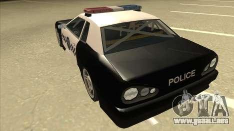 Elegy Police para GTA San Andreas vista hacia atrás