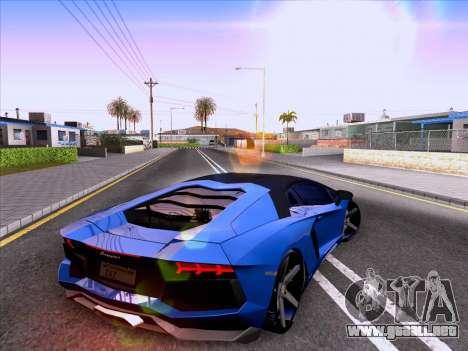 Lamborghini Aventador LP700-4 Vossen 2012 V2.0 F para GTA San Andreas vista hacia atrás