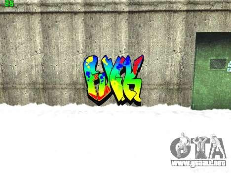 Graffity mod para GTA San Andreas octavo de pantalla