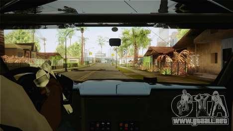 Bowler EXR S 2012 HQLM para visión interna GTA San Andreas