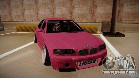 BMW M3 E46 Stance para GTA San Andreas left