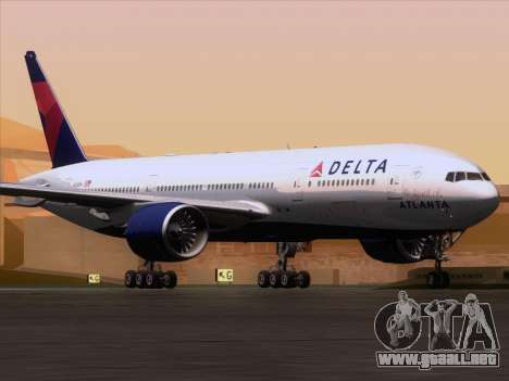 Boeing 777-200ER Delta Air Lines para GTA San Andreas left