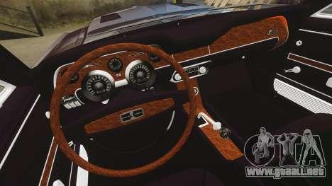 Shelby GT500 para GTA 4 vista interior