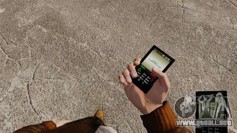 Temas para las marcas de teléfono ropa para GTA 4 tercera pantalla