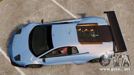 Lamborghini Murcielago RSV FIA GT1 v3.0 para GTA 4 visión correcta