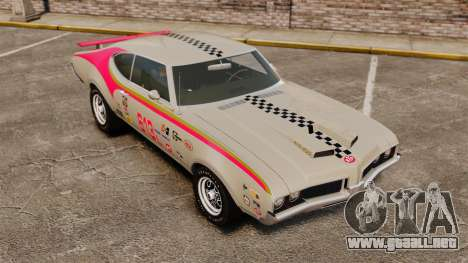 Oldsmobile Cutlass Hurst 442 1969 v2 para GTA 4 vista lateral