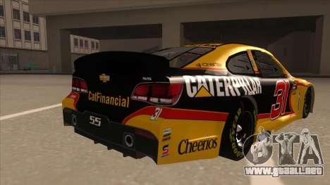 Chevrolet SS NASCAR No. 31 Caterpillar para la visión correcta GTA San Andreas