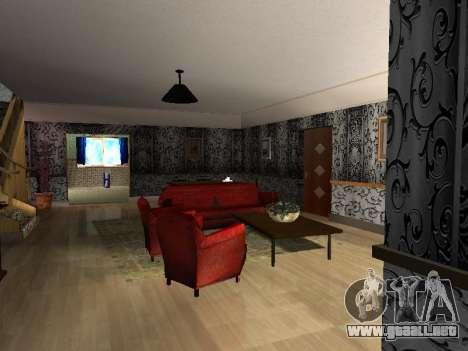 Nuevo edificio de 2 pisos interior CJ para GTA San Andreas segunda pantalla