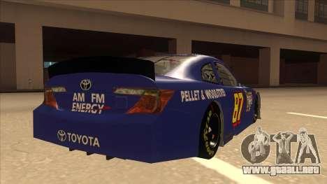 Toyota Camry NASCAR No. 87 AM FM Energy para la visión correcta GTA San Andreas