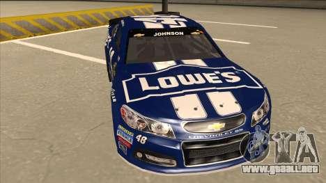 Chevrolet SS NASCAR No. 48 Lowes blue para GTA San Andreas left