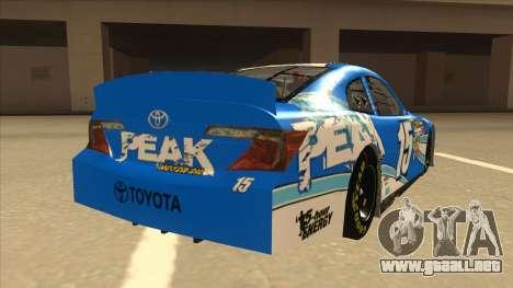 Toyota Camry NASCAR No. 15 Peak para la visión correcta GTA San Andreas