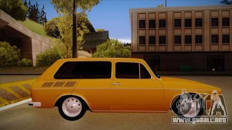 VW Variant 1972 para GTA San Andreas vista posterior izquierda