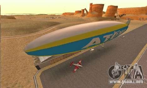 Zepellin GTA V para GTA San Andreas left
