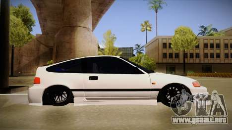 Honda CRX JDM Style para GTA San Andreas vista posterior izquierda